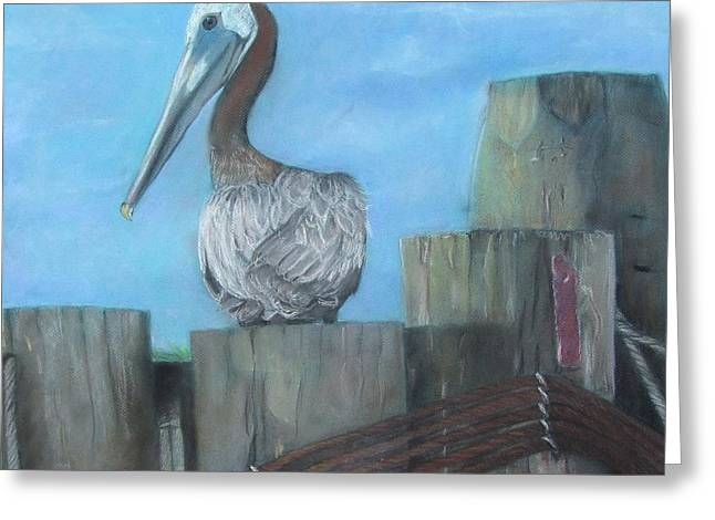 Pelican At Hatteras Ferry Greeting Card