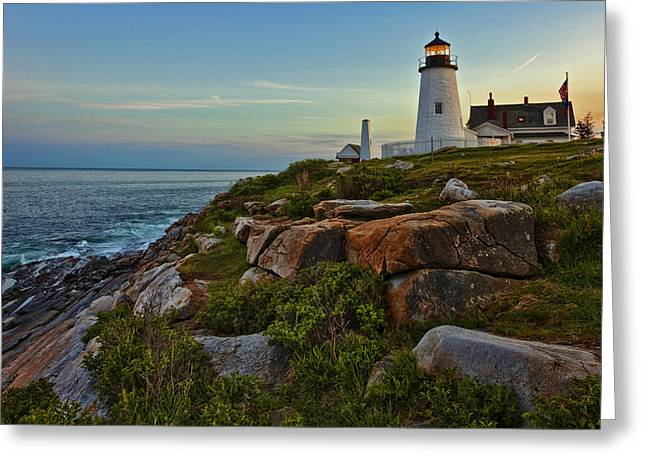 Pemaquid Light Greeting Card by Diana Powell