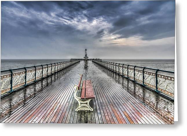Penarth Pier 4 Greeting Card by Steve Purnell