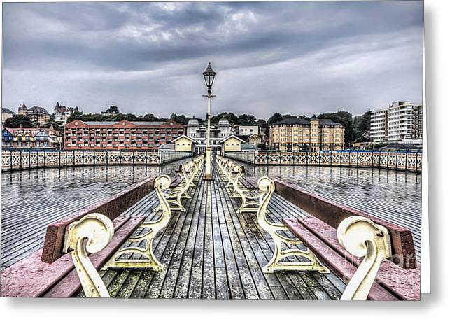 Penarth Pier 5 Greeting Card by Steve Purnell