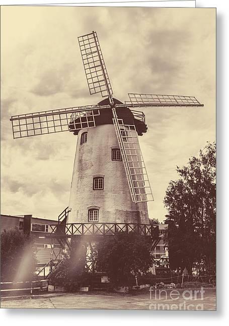Penny Royal Windmill In Launceston Tasmania  Greeting Card
