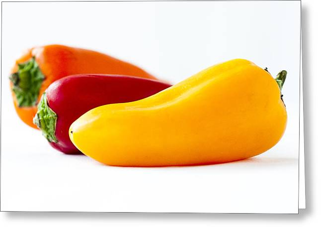 Peppers Greeting Card by Andrew Campbell
