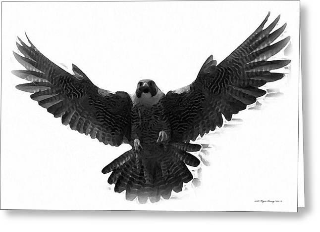 Peregrine Falcon Greeting Card by Wayne Bonney