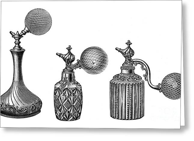 Perfume Atomizers, Early 20th Century Greeting Card