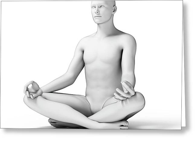 Person Doing Yoga Greeting Card by Sebastian Kaulitzki