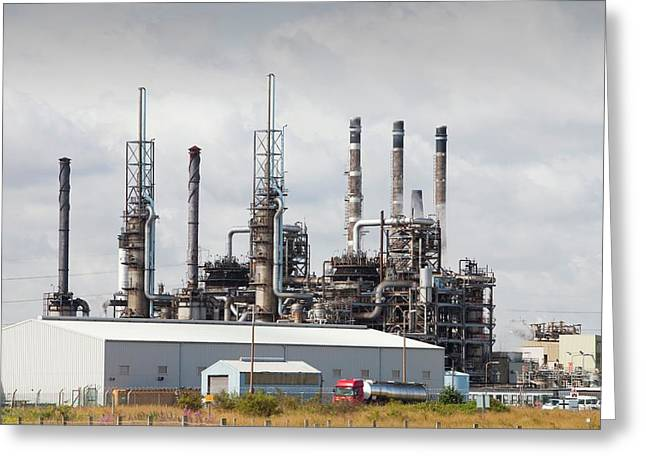 Petrochemical Plant Greeting Card by Ashley Cooper
