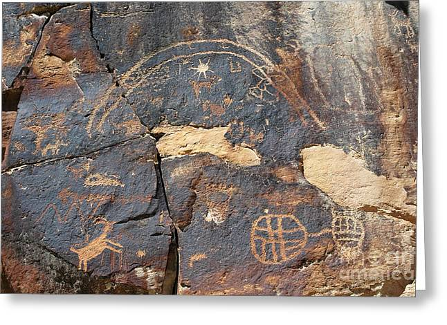 547p Petroglyph - Nine Mile Canyon Greeting Card