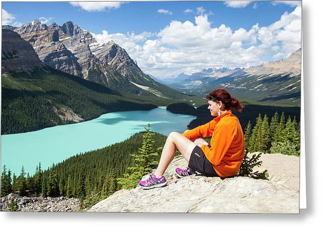 Peyto Lake In The Canadian Rockies Greeting Card by Ashley Cooper