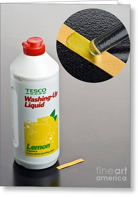 Ph Of Washing-up Liquid Greeting Card