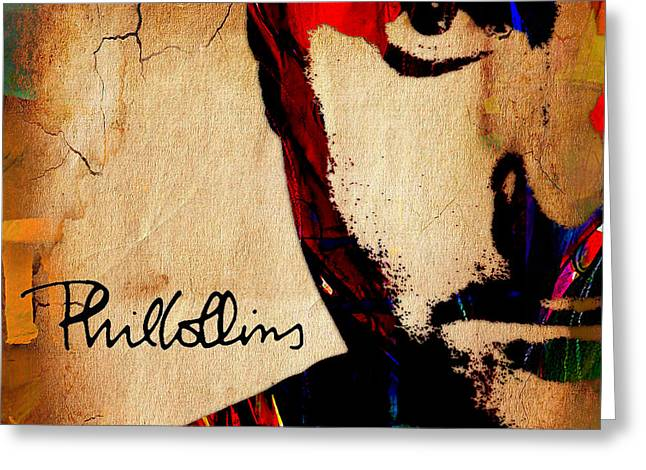 Phil Collins Collection Greeting Card