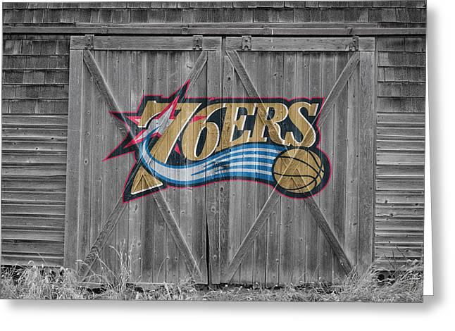Philadelphia 76ers Greeting Card by Joe Hamilton