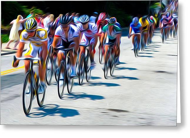 Philadelphia Bike Race Greeting Card by Bill Cannon