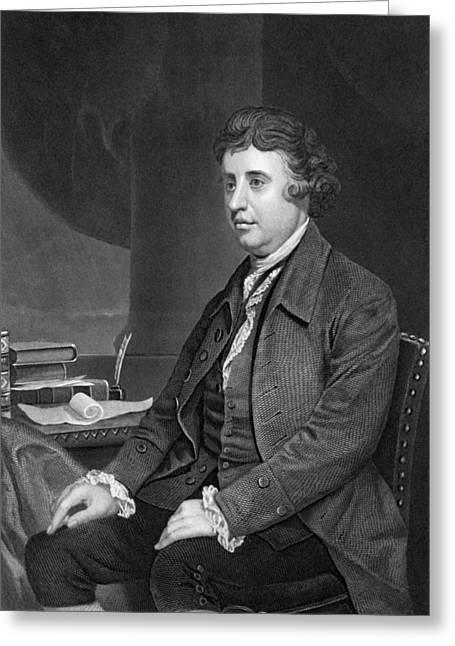 Philosopher Edmund Burke Greeting Card by Underwood Archives