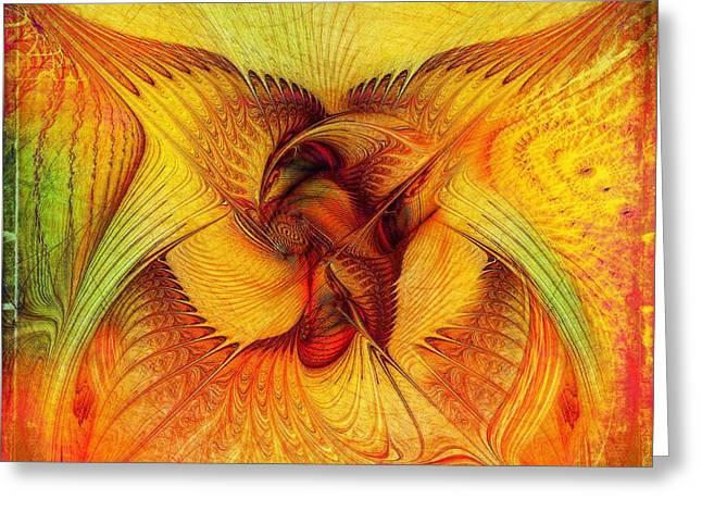 Phoenix Greeting Card by Klara Acel