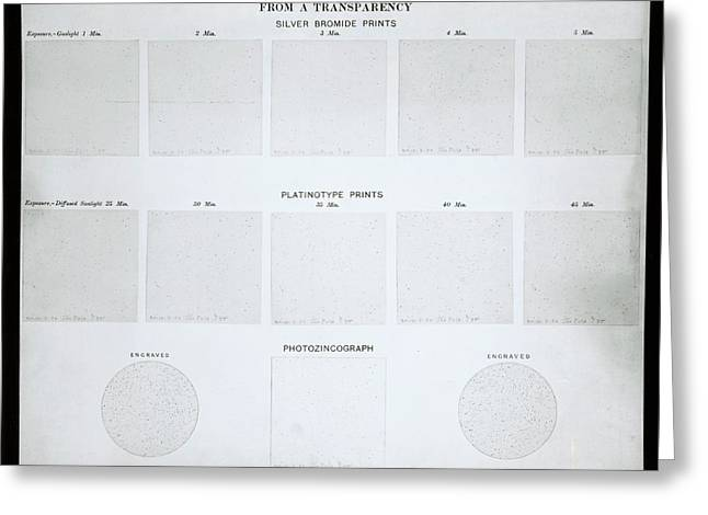 Photochart Of Polar Stars Greeting Card