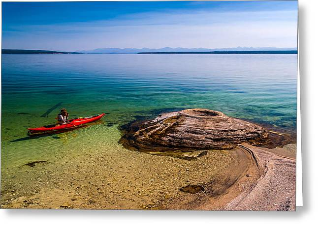 Photographing Fishing Cone Greeting Card by Chuck De La Rosa