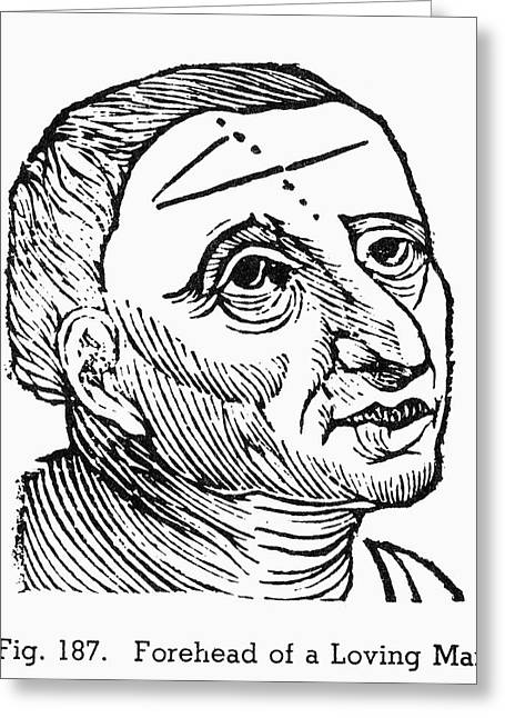 Physiognomy, 1648 Greeting Card