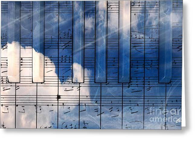 Piano Greeting Card by Bruno Haver