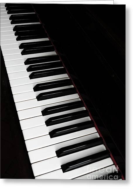 Piano Greeting Card by Jelena Jovanovic