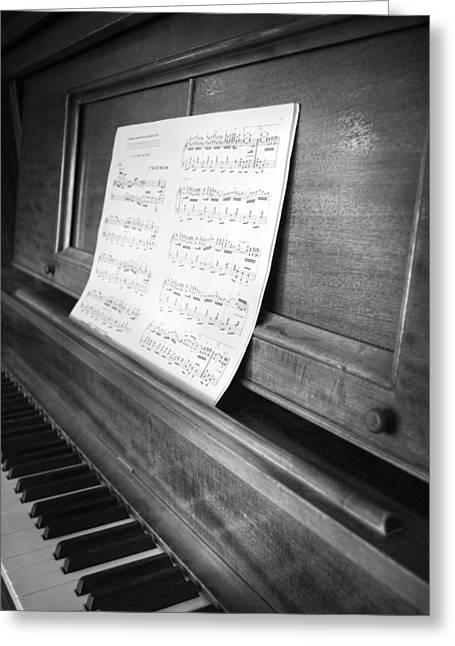 Piano Man Greeting Card by Jerry Cordeiro