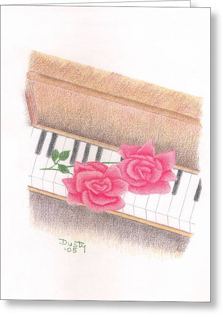 Piano Pinks Greeting Card by Dusty Reed