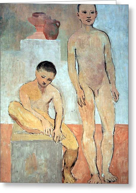 Picasso's Two Youths Greeting Card