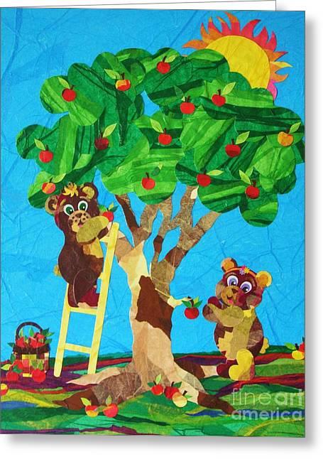 Pickin Apples Greeting Card