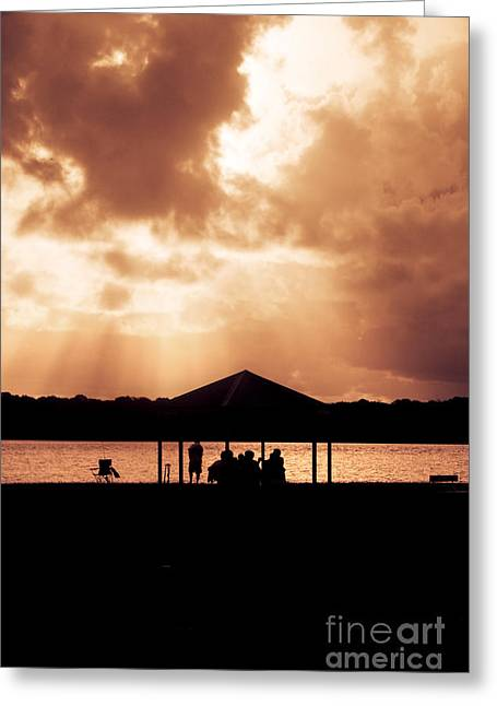 Picnic Silhouettes Greeting Card by Jorgo Photography - Wall Art Gallery