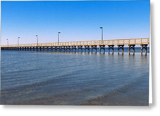 Pier In The Sea, Biloxi, Mississippi Greeting Card by Panoramic Images