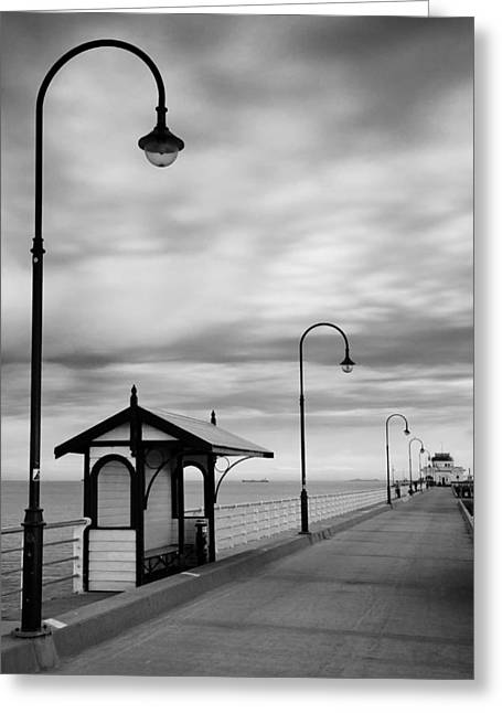 Pier Into The Past Greeting Card by Shari Mattox