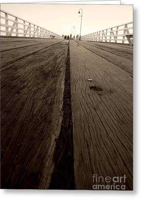 Pier Planks Greeting Card by Jorgo Photography - Wall Art Gallery