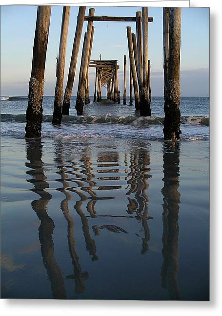 Pier Reflections Greeting Card