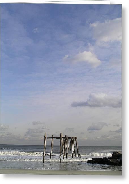 Pier Sky Greeting Card
