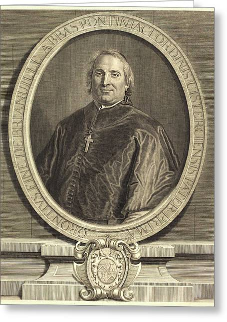 Pierre Drevet After Hyacinthe Rigaud, French 1663-1738 Greeting Card by Litz Collection