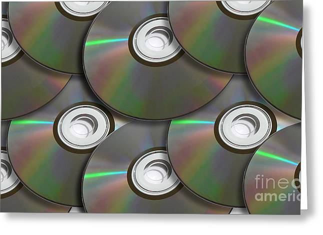 Pile Of Discs Greeting Card by Jorgo Photography - Wall Art Gallery