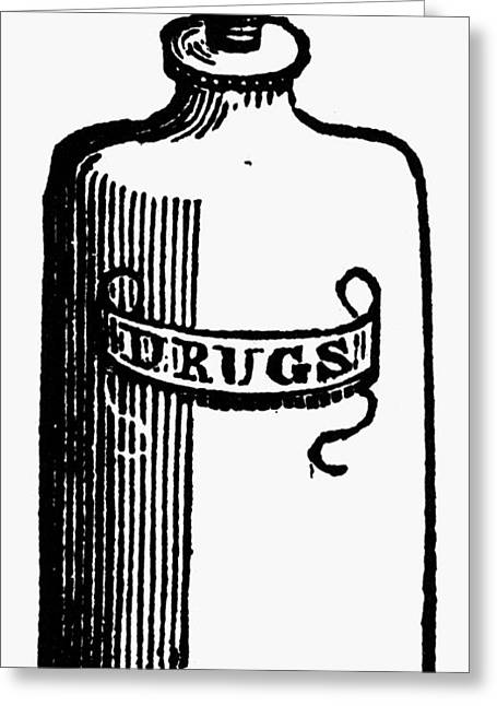 Pill Bottle, 19th Century Greeting Card by Granger