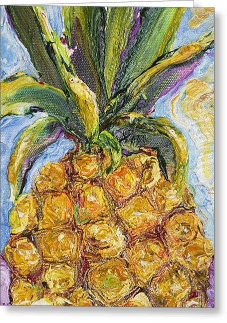 Pineapple Greeting Card by Paris Wyatt Llanso