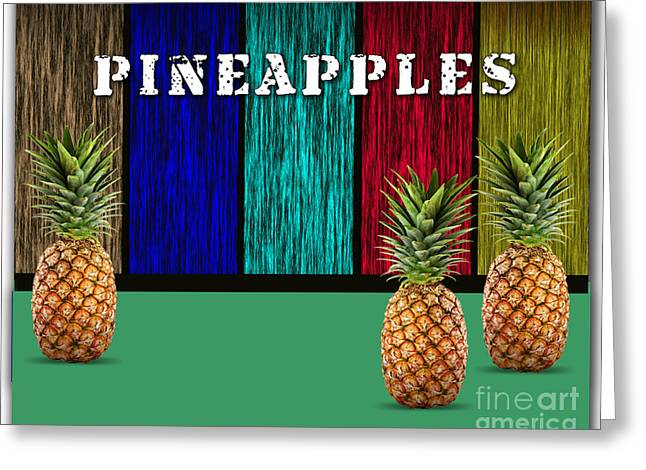 Pineapples Greeting Card by Marvin Blaine