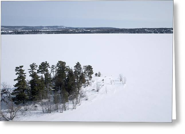Pinheys Point In Winter, Dunrobin Greeting Card