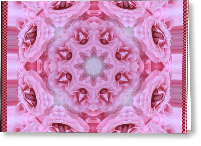 Greeting Card featuring the digital art Pink Parfait by Charmaine Zoe