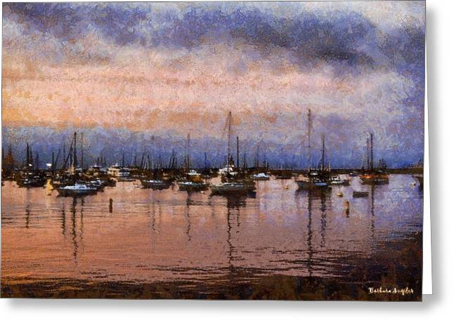 Pink Reflections Monterey Bay Greeting Card