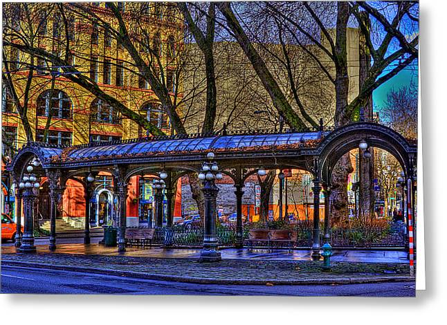 Pioneer Square - Seattle Greeting Card