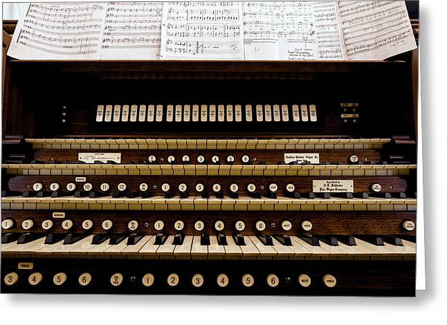 Pipe Organ Console, The Temple Greeting Card