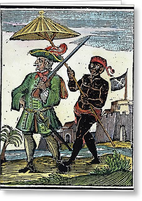 Pirate Henry Every, 1725 Greeting Card by Granger