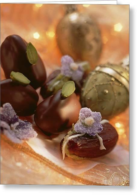 Pistachio Dates (dates Stuffed With Pistachio Marzipan) Greeting Card