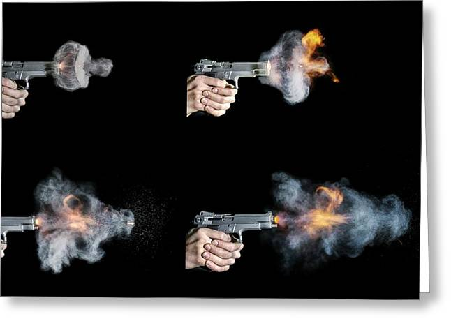 Pistol Shot Greeting Card