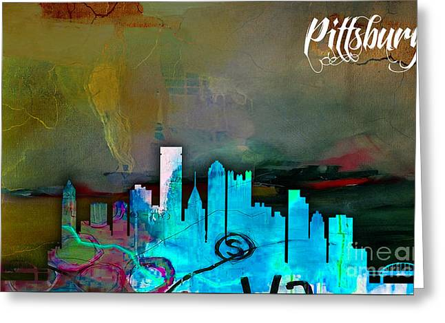 Pittsburgh Skyline Watercolor Greeting Card
