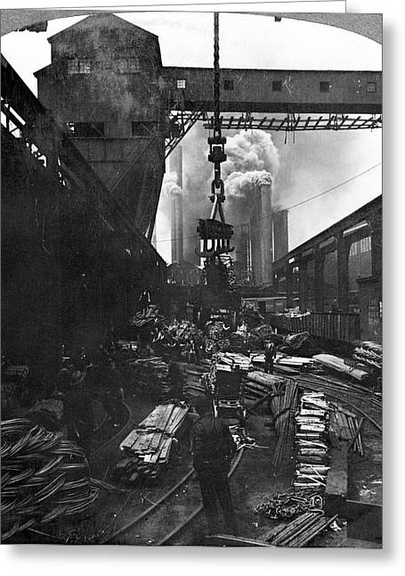 Pittsburgh Steel Mill Greeting Card