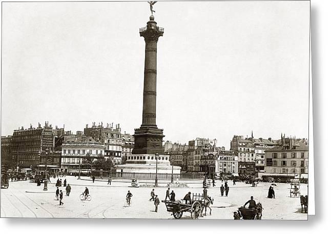 Place De La Bastille Greeting Card