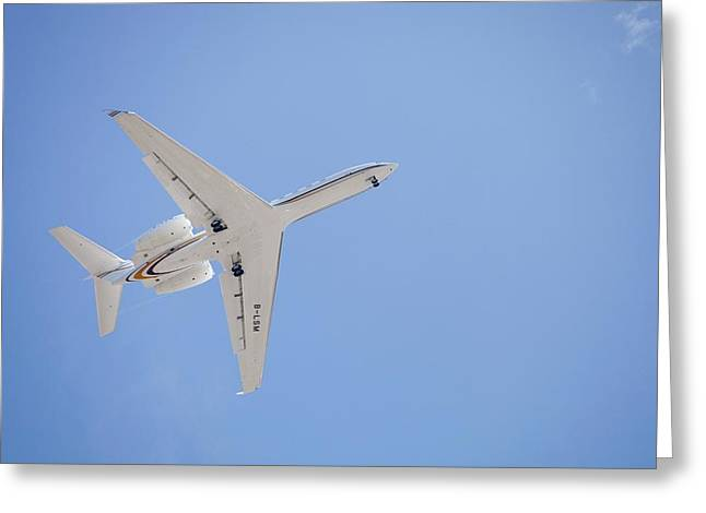 Planes Flying Into Sydney Greeting Card by Ashley Cooper